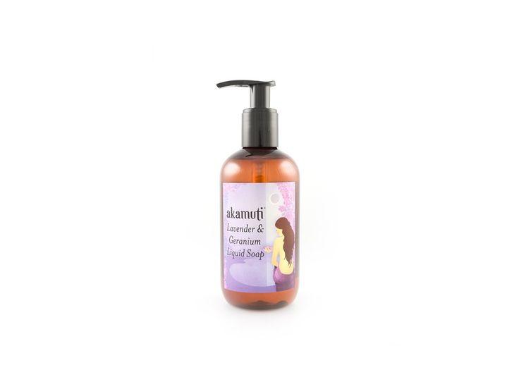 Akamuti sprchové mýdlo Levandule a pelargonie