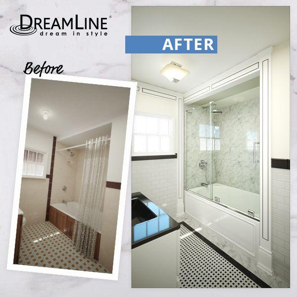 The Dreamline Mirage X Frameless Sliding Tub Door Is The Epitome