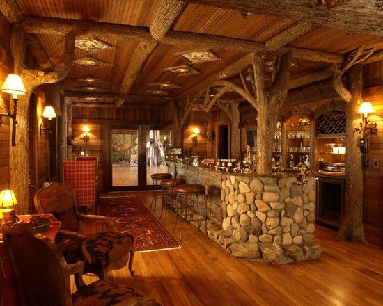 Family Room Log Home Design, Pictures, Remodel, Decor and Ideas - page 3