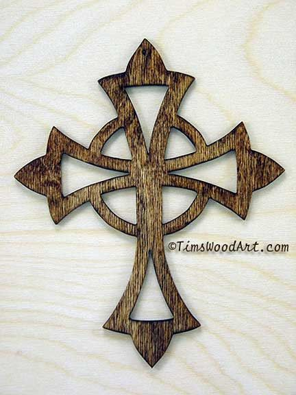 Celtic Cross, Handmade Wood Cross,  for Wall Hanging or Ornament, Item S1-4