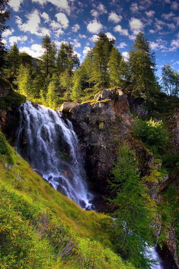 Mountain Waterfall - Ticino