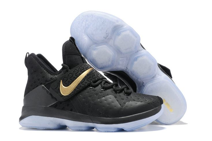 2017 April New Arrival Nike LeBron 14 XIV Black Metallic Gold Championship  For Sale Cheap - Click Image to Close