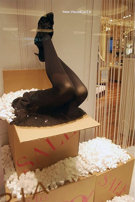 Mail-Order-Brides Revisited - a grea way to display shoes with humor.    We have mannequin legs for sale at Mannequin Madness