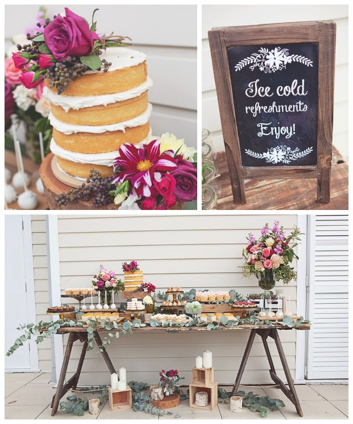 Gorgeous Rustic Bridal Shower via Kara's Party Ideas KarasPartyIdeas.com | Cakes, favors, printables, recipes, desserts, and more! #rusticbr...