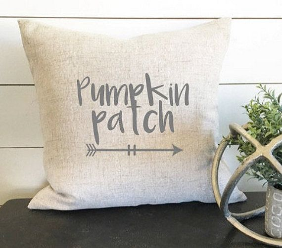 Pumpkin Patch Pillow Autumn Pillow Fall Pillow by designdistrictt