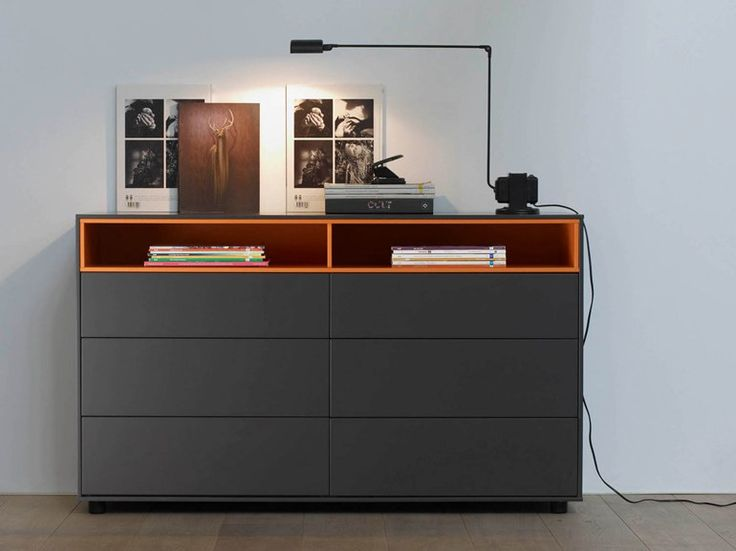 free standing lacquered solid wood chest of drawers ober ober collection by treku design ibon