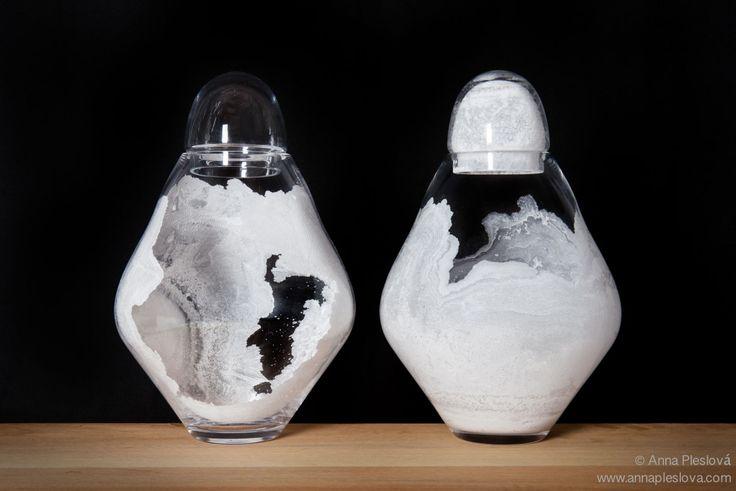 LENKA HUSARKOVA, FUNERAL URN, SALT, GLASS , UMPRUM