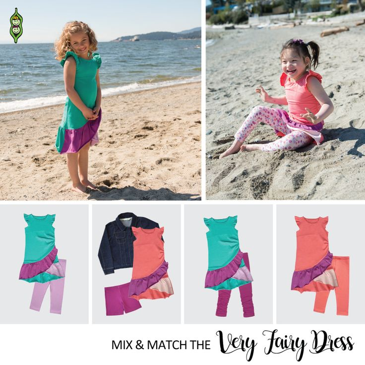 So many mix-and-match options with the Very Fairy Dress | Girls Summer Collection | Peekaboo Beans