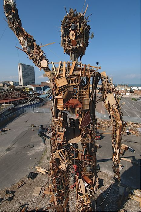 The human form is beautiful even when it is made from waste. Antony Gormley. 2006. WASTE MAN  - BlueApple #Health