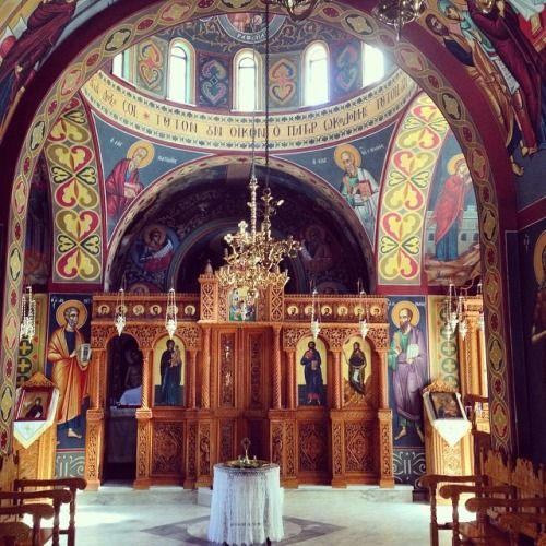 Chapel inside the monastery of St Nektarios.