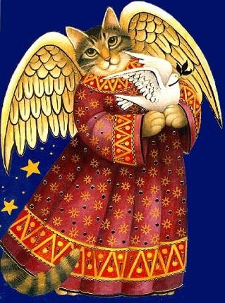 Angel Cat and Dove by Stephanie Stouffer | Ruth Levison Design