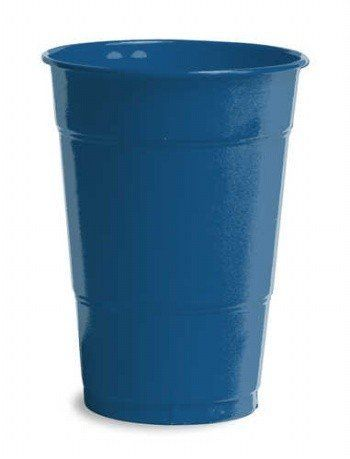 Navy Blue Plastic Cups 16oz Solid 240ct by Creative Converting. $38.28. Bulk by the Case, Navy Blue Plastic Cups 16oz Solid 240ct. For each case you will receive 12 individual packages that contain 20ea. Great for large Birthday Parties, Church Events, Sporting Events, Company Parties, Charity Events and more! You save big when you buy by the case!