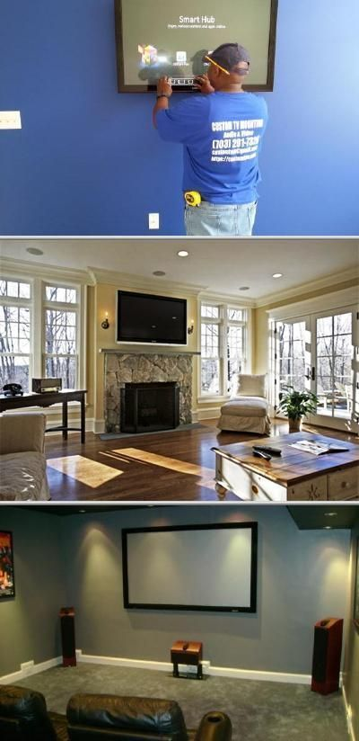Custom TV Mounting Audio and Video installs home security cameras, home alarm systems and home theater systems. They also provide cctv installations, wireless security camera repairs and more. #hometheaterprojectormount #homeaudioinstallation