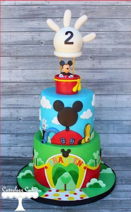 Pastel para cumpleaños de Mickey Mouse Clubhouse.