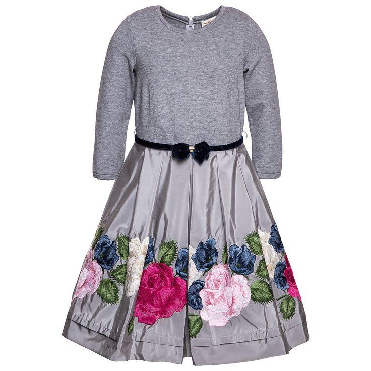 Платье из тафты с розами