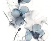 Indigo Blossoms giclee fine art print 8x10 inchesKaren Faulkner, Colors Tattoo, Flower Art, Art Prints, Fine Art, Watercolors Art, Indigo Blossoms, Watercolors Painting, Watercolors Flower