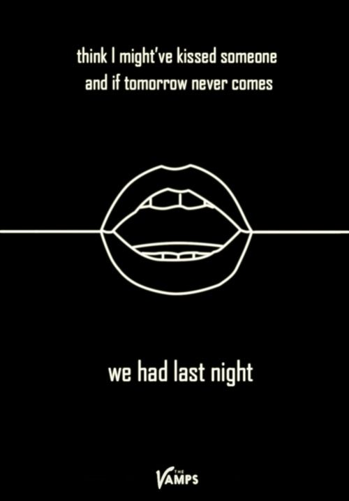 Arctic Monkeys inspired poster for The Vamps' new single Last Night