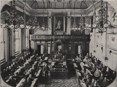 CAPE TOWN. Interior of the House of Assembly. South Africa, antique print 1895