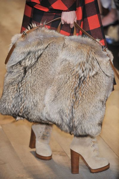 Michael Kors fur bag