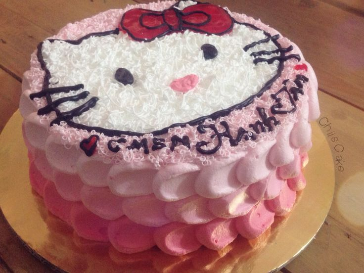 #kitty #ombrecake #pink