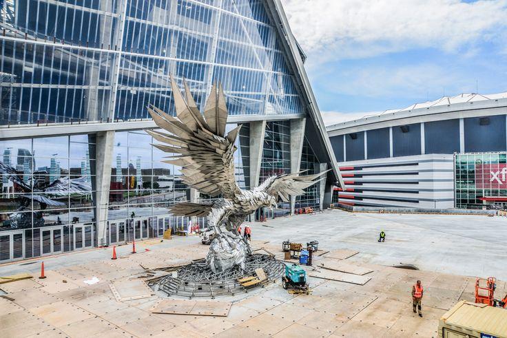 444 best atlanta images on pinterest atlanta atlanta for Mercedes benz stadium falcon statue