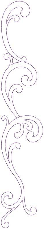 Design #12, Combo, Straight, bean (5-pass) - machine embroidery design