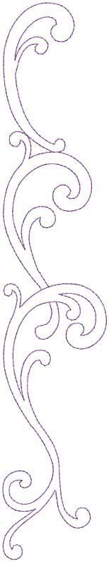 Design #12, Combo, Straight, bean (5-pass) - machine embroidery design