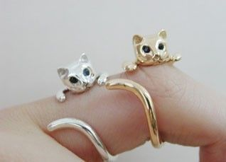 Need this ASAP!!: Kitty Cat, Style, Cute Cats, Cat Jewelry, Cat Rings, Kitty Rings, Cat Cat, Kittens, Crazy Cat Lady