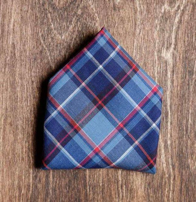 Pochette En Coton Pour Hommes Carré - Abstrait À Carreaux Par Vida Vida DjOdG3u