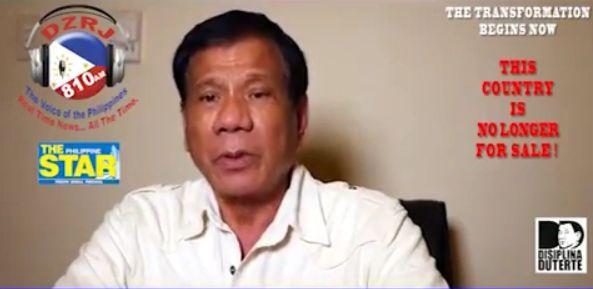 Presidential Candidate Mayor Rodrigo Duterte's Call To All Filipinos.  #PHvoteDuterte #Duterte2016