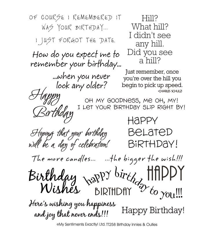 17 Best images about Card Crafts sayings for Birthday cards on – Phrases for Birthday Cards