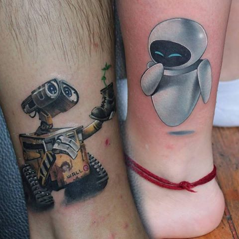 Image result for walle and eve tattoos inked art pinterest tattoo tatoo and tatting for Wall e tattoo
