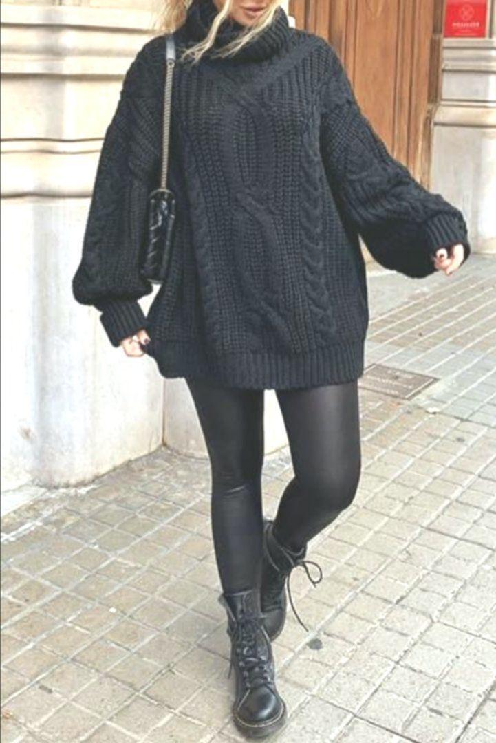 Mode Damen Trend Herbst Winter Mit Stoff Pull Fashionista