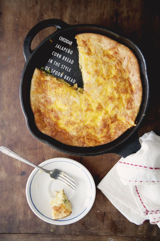 Cheddar Jalapeno Corn Bread  featured on Food for Thought with Claire Thomas