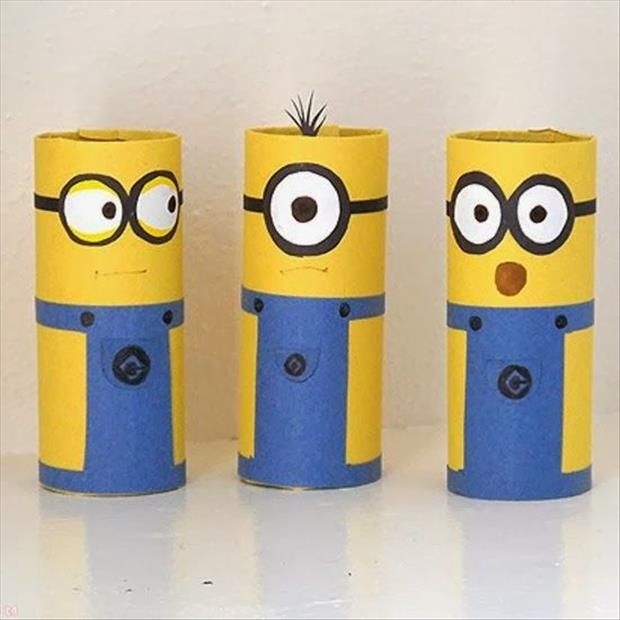 Fun DIY Craft Ideas 52 Pics. These ones are too cute. You can make them from toilet paper rolls.
