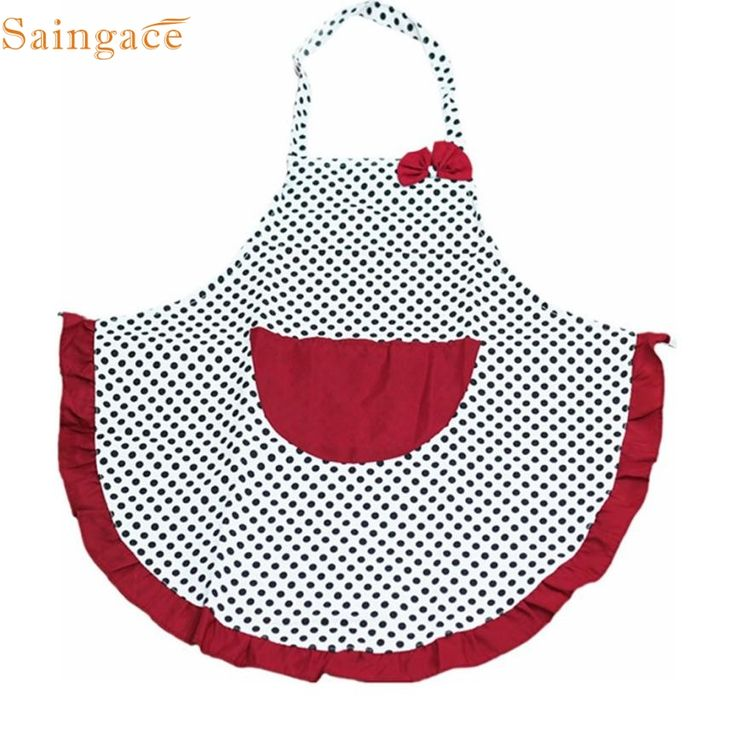 Mosunx Business women Bib Cooking Aprons Kitchen Restaurant Aprons Polka Dot Aprons. Click visit to buy #Apron
