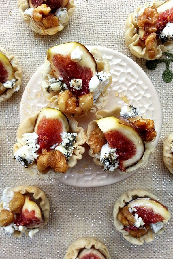 fig and walnut tartlets | Food - Events & Entertaining | Pinterest