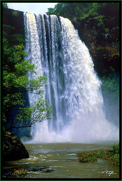 Wailua Waterfall - Photos of Hawaii Pictures
