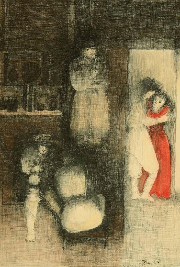 MARTÍN FIERRO, Riunidos al pericón tantos amigos hallé,  Artista Rosenell Baud. http://www.ellibrototal.com/ltotal/ficha.jsp?t_item=6&id_item=70068