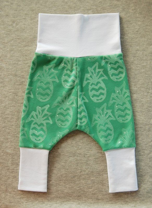 Completed free baby pants pattern