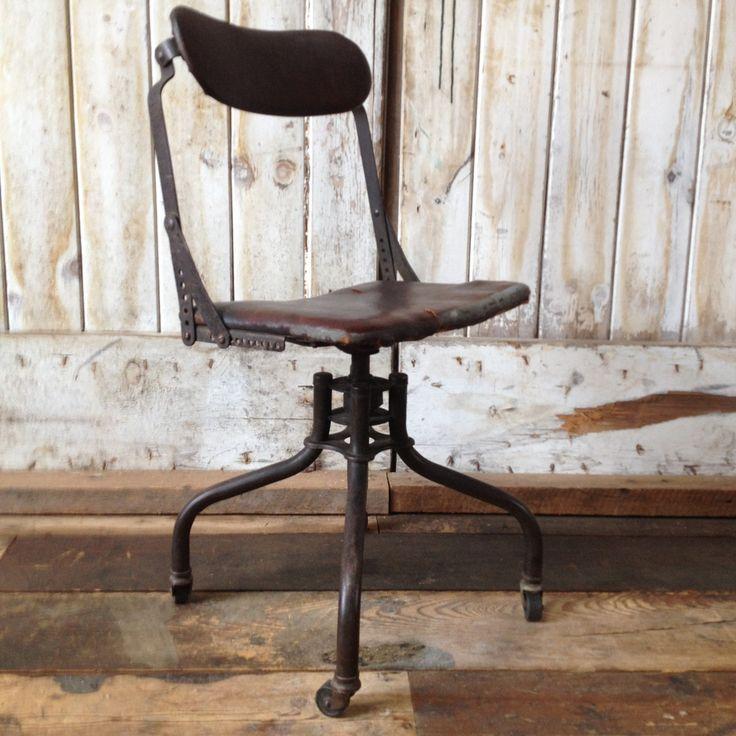 Vintage industrial office chair. http://depop.com/en/barnpunk/vintage-industrial-office-chair