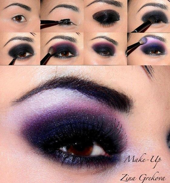Purple smokey eye: Makeup Stuff, Purple Smokey Eye, Flawless Faces, Beautiful, Smokey Eye Tutorials, Sexy Eye, Dramatic Purple, Make Up Purple Eye, Smokey Eye Makeup