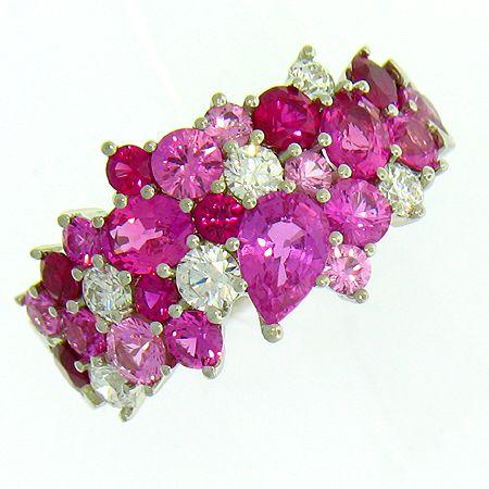 Mark Patterson ring: Saphhires, rubies, diamonds.