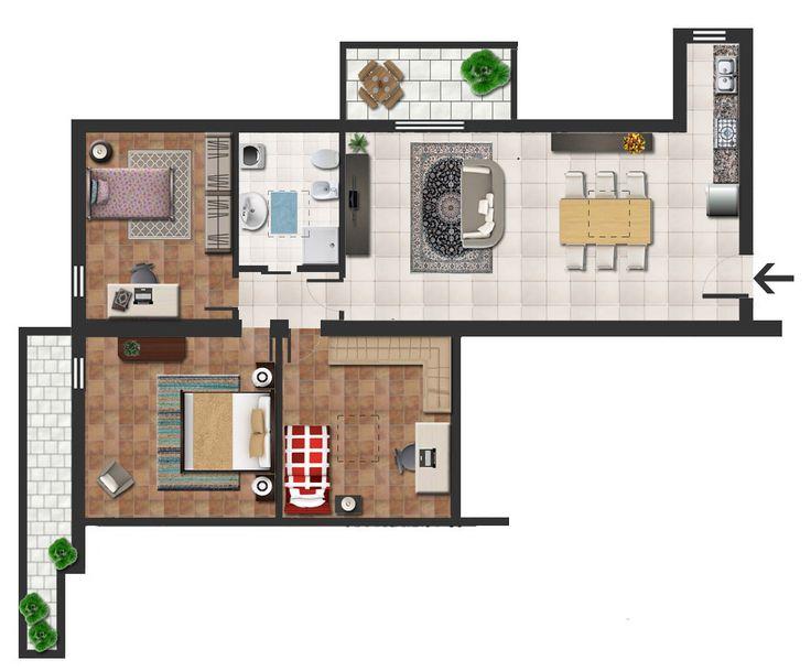 10 migliori immagini planimetrie realistiche su pinterest for Planimetrie case moderne