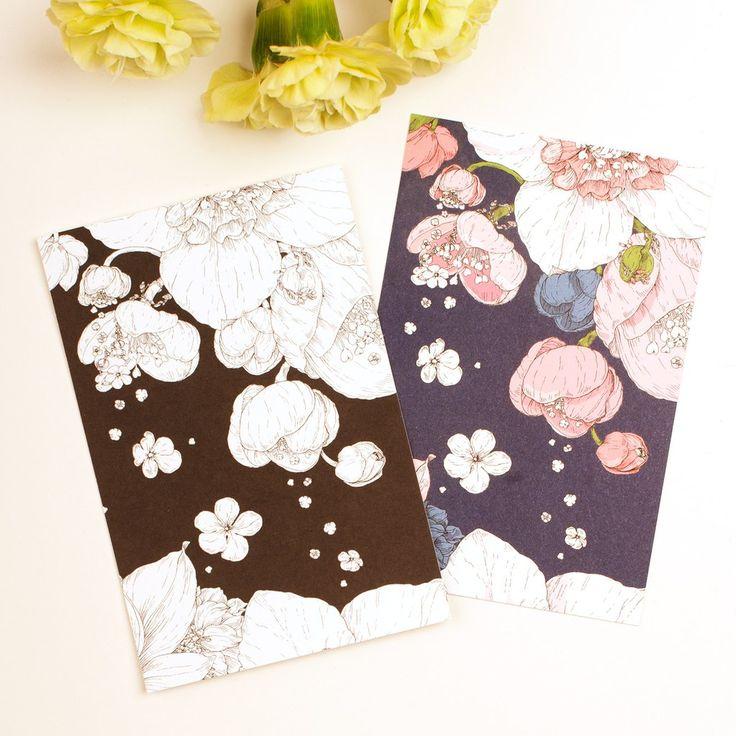 "A6 Nuppu Print Company Post Card Set ""Sydäntalvi"" Pink + Black"
