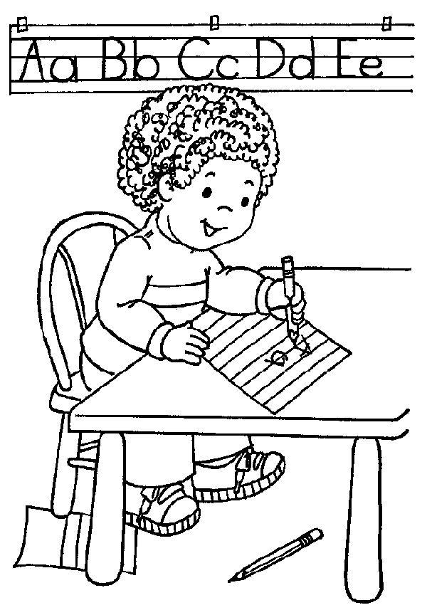 schrijfhoek