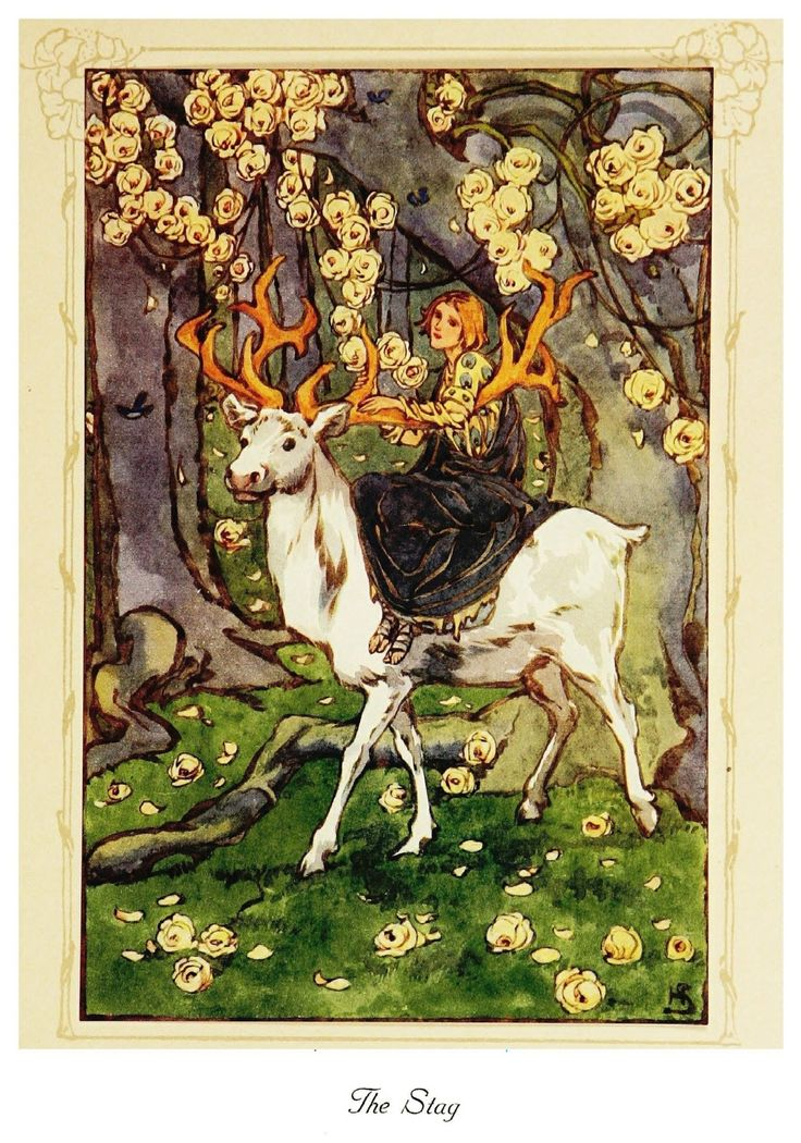 Helen Stratton ~The Lily of Life~The Stag~ 1913