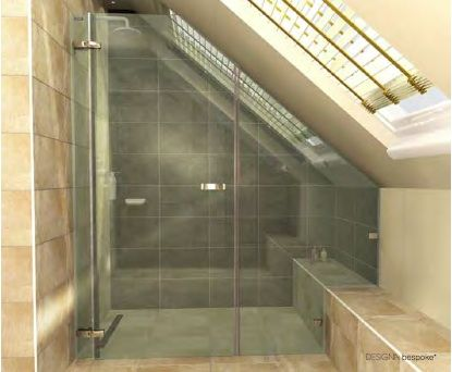 Small Bathroom Designs Slanted Ceiling 14 best sloped shower images on pinterest | bathroom ideas, small