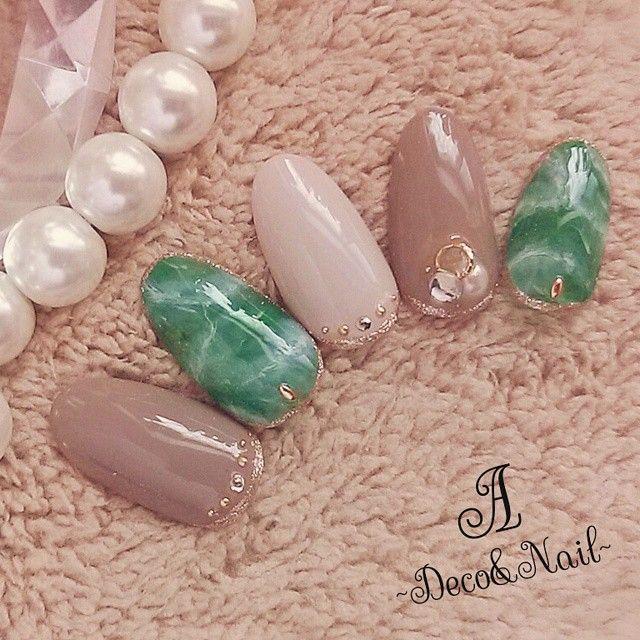 サボンジェムにそっくりな天然石ネイルがかわいい! | marry[マリー]