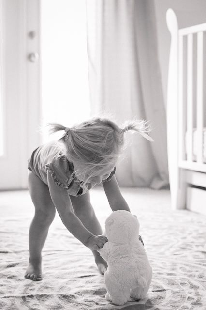 I've done a similar series of photographs of my daughter and her stuffed animals.  Makes me smile :)